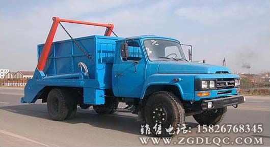 东风尖头汽油机摆臂式垃圾车