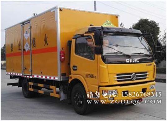 东风多利卡黄牌毒性气体厢式运输车